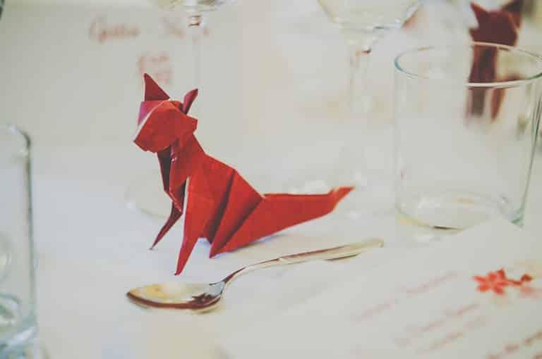 Wedding Planner Torino - origami Matrimonio Francesca e Stefano
