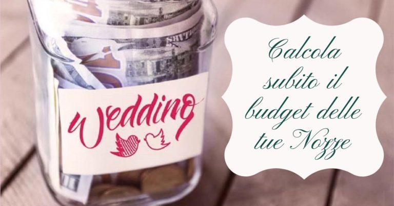calcolatore budget matrimonio